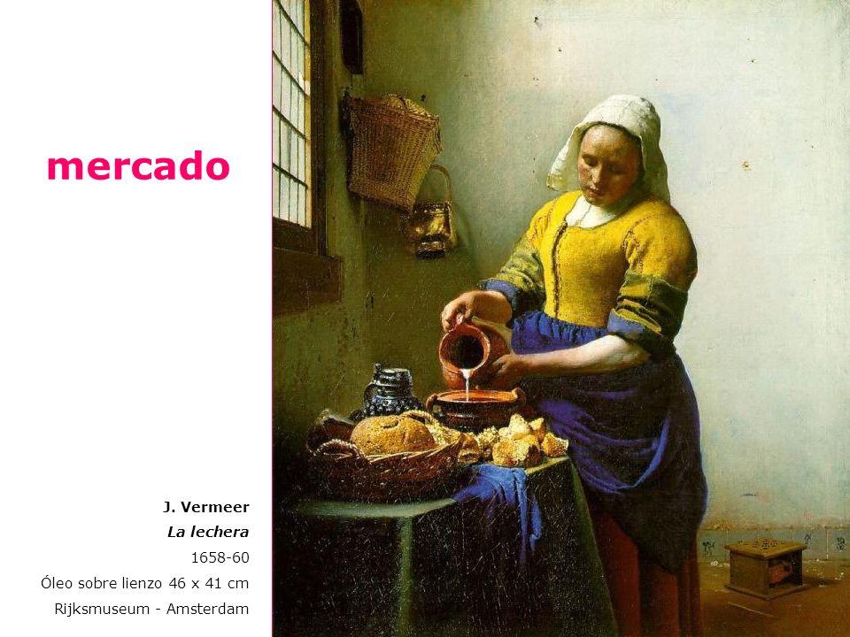 mercado J. Vermeer La lechera 1658-60 Óleo sobre lienzo 46 x 41 cm