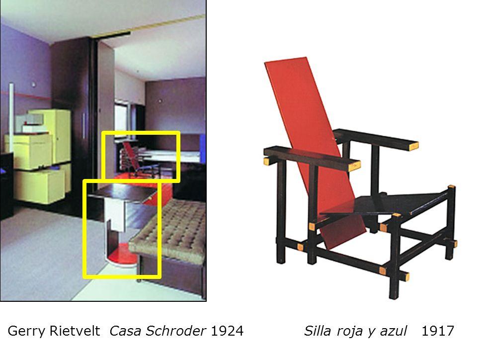 Gerry Rietvelt Casa Schroder 1924 Silla roja y azul 1917