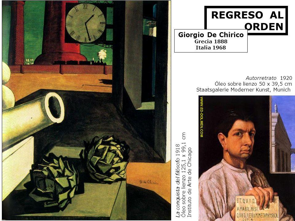 REGRESO AL ORDEN Giorgio De Chirico Grecia 1888 Italia 1968