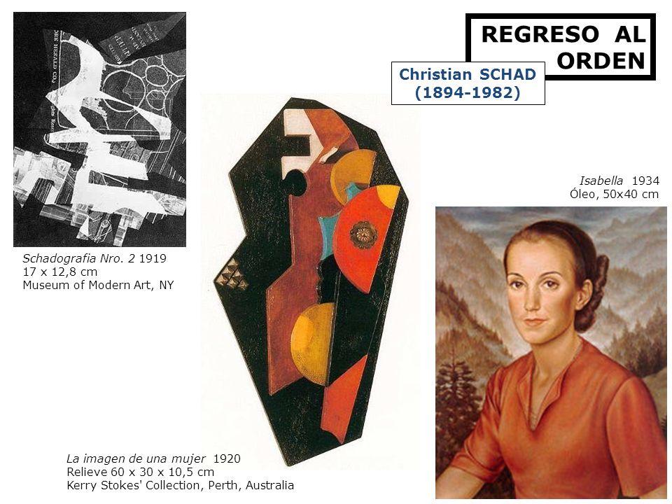REGRESO AL ORDEN Christian SCHAD (1894-1982) Isabella 1934