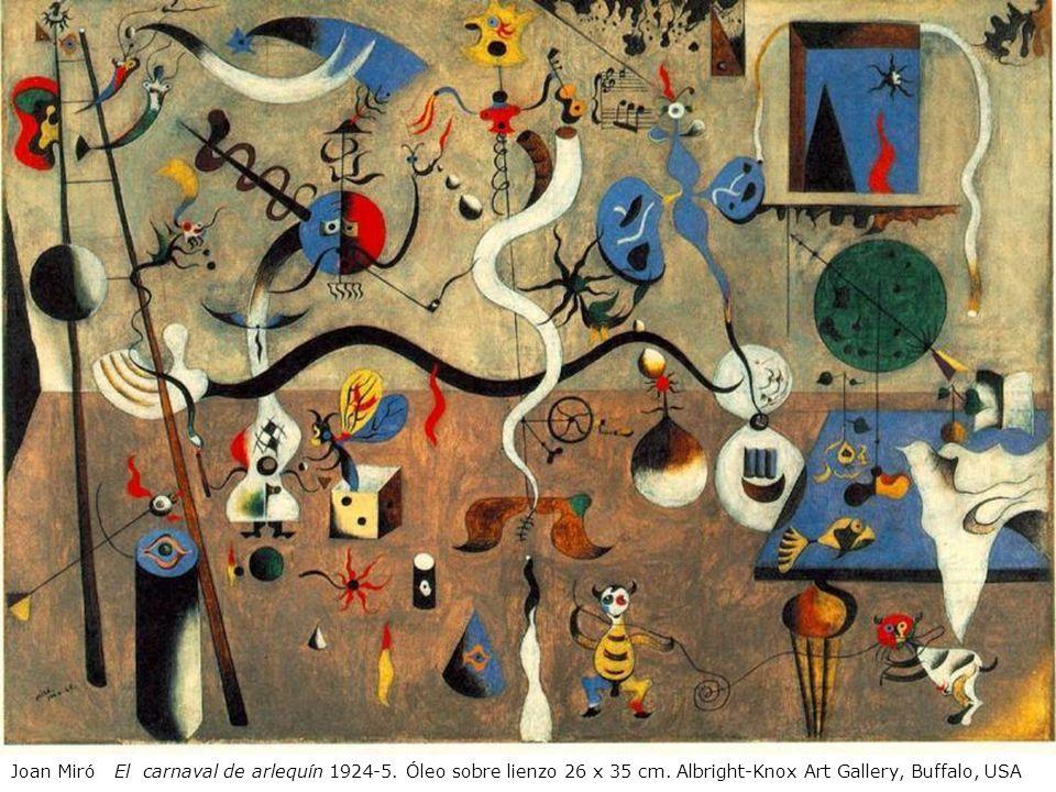 Joan Miró El carnaval de arlequín 1924-5. Óleo sobre lienzo 26 x 35 cm