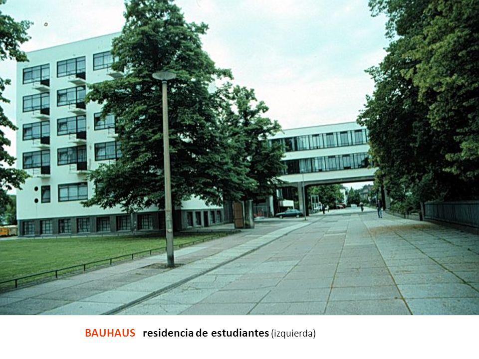 BAUHAUS residencia de estudiantes (izquierda)