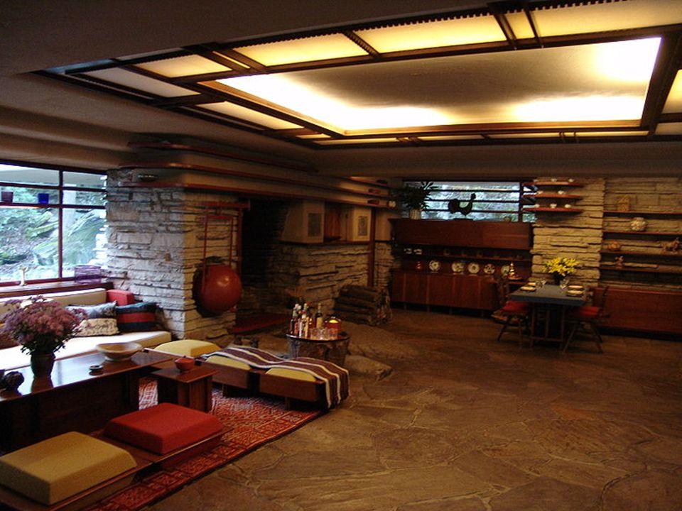Frank Lloyd Wright Casa de la cascada Pensilvania 1936-9