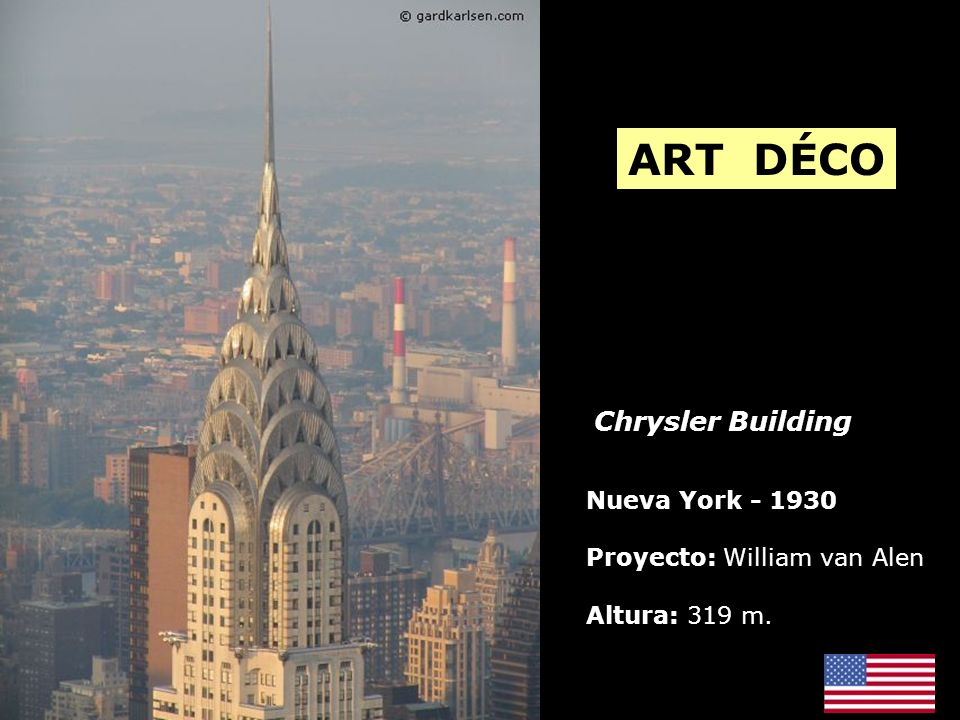 ART DÉCO Chrysler Building Nueva York - 1930