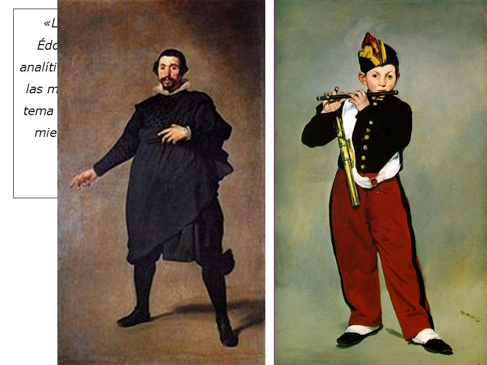 «Los pintores, y especialmente Édouard Manet, que es un pintor analítico, no comparten la obsesión de las masas por el tema: para ellos, el tema es sólo un pretexto para pintar, mientras que para las masas sólo existe el tema.»