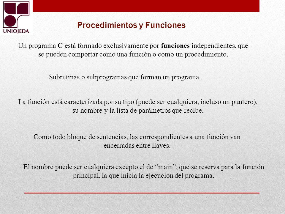 Procedimientos y Funciones