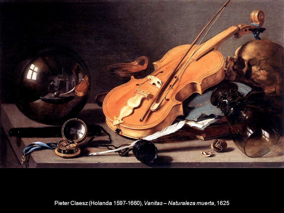 Pieter Claesz (Holanda 1597-1660), Vanitas – Naturaleza muerta, 1625