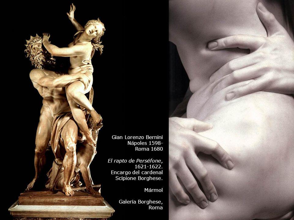 Gian Lorenzo Bernini Nápoles 1598- Roma 1680. El rapto de Perséfone, 1621-1622. Encargo del cardenal.