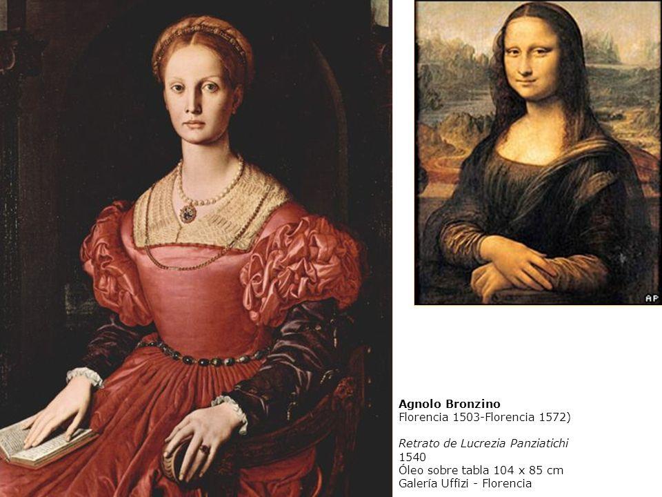 Agnolo Bronzino Florencia 1503-Florencia 1572) Retrato de Lucrezia Panziatichi. 1540. Óleo sobre tabla 104 x 85 cm.
