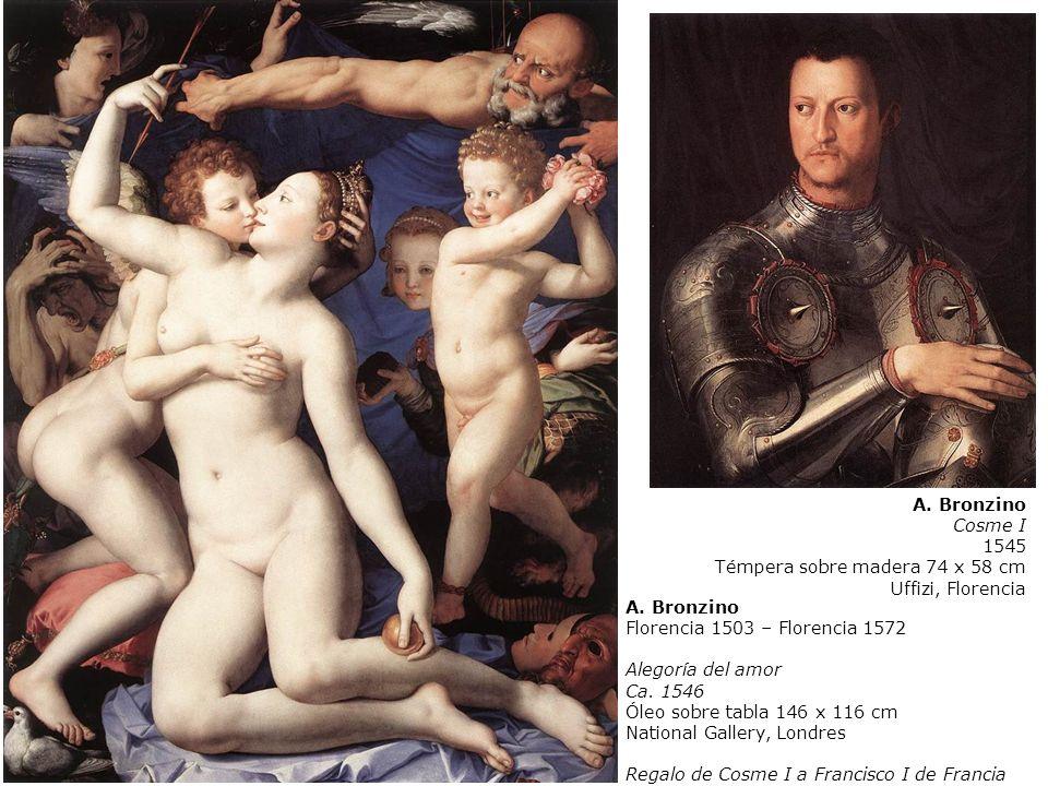 A. Bronzino Cosme I. 1545. Témpera sobre madera 74 x 58 cm. Uffizi, Florencia. Bronzino. Florencia 1503 – Florencia 1572.