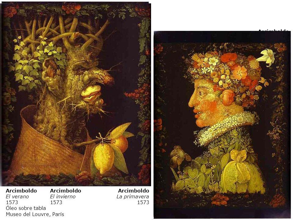 Arcimboldo El otoño. 1573. Arcimboldo. El verano. 1573. Óleo sobre tabla. Museo del Louvre, París.