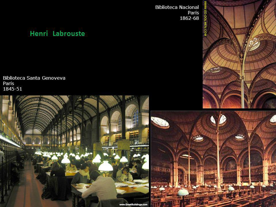 Henri Labrouste Biblioteca Nacional París 1862-68