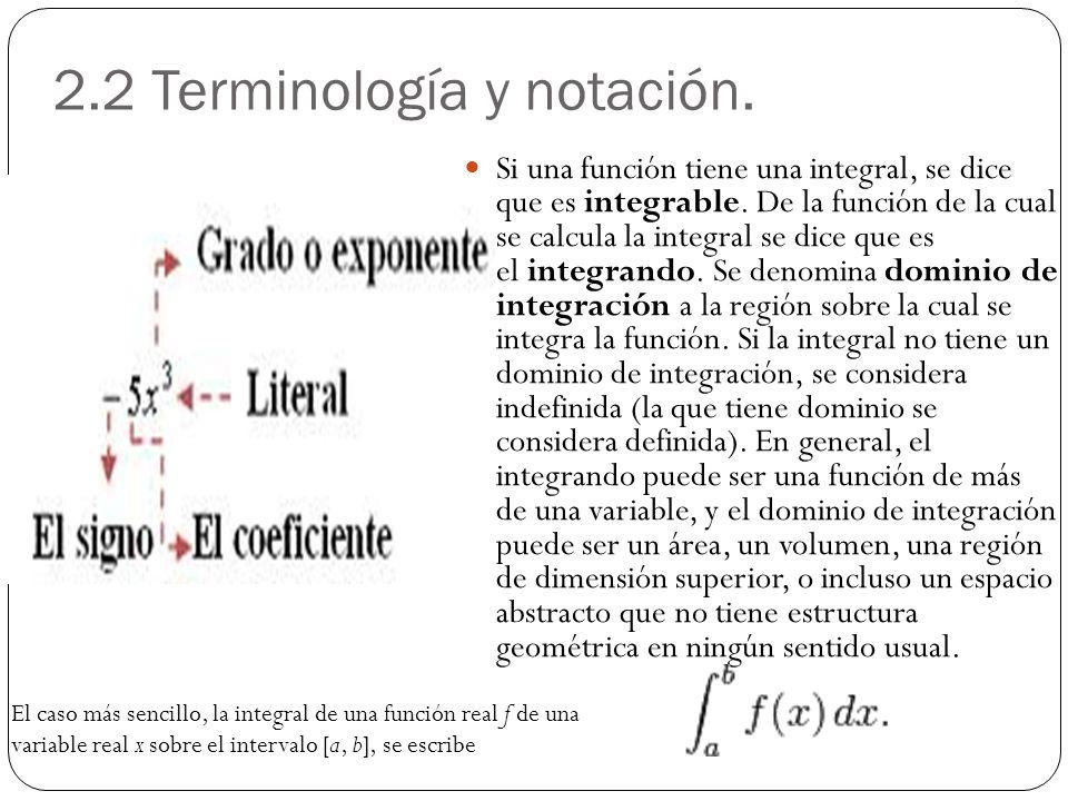 2.2 Terminología y notación.