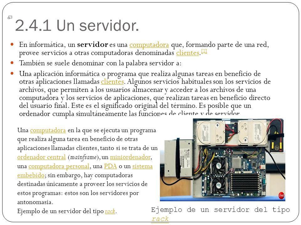 2.4.1 Un servidor.
