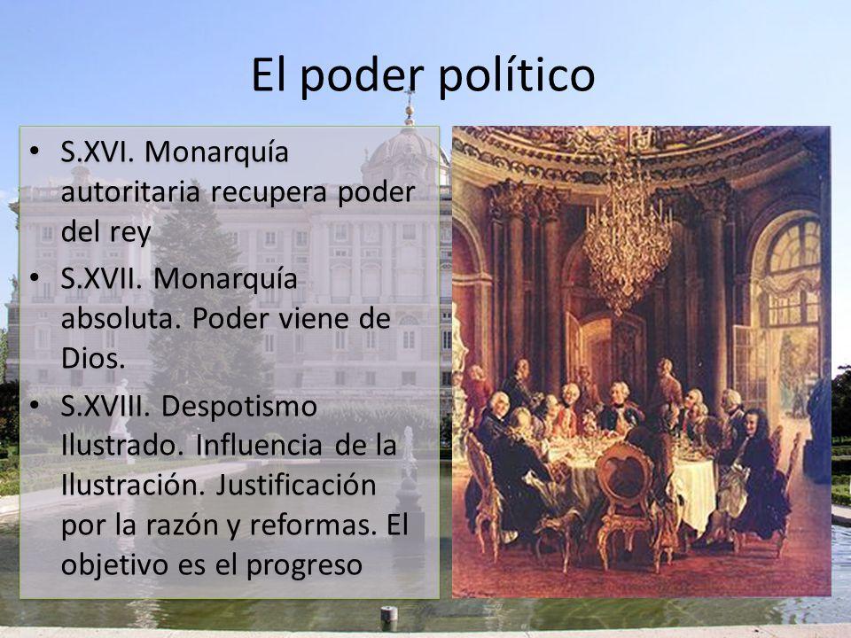 El poder político S.XVI. Monarquía autoritaria recupera poder del rey