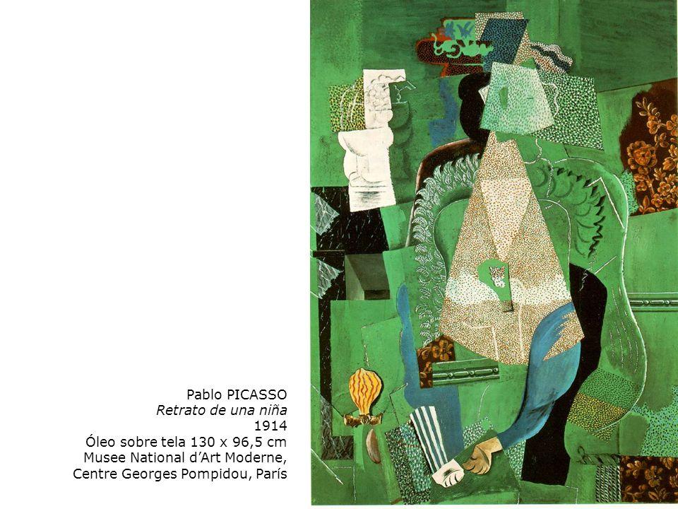 Pablo PICASSO Retrato de una niña. 1914. Óleo sobre tela 130 x 96,5 cm.
