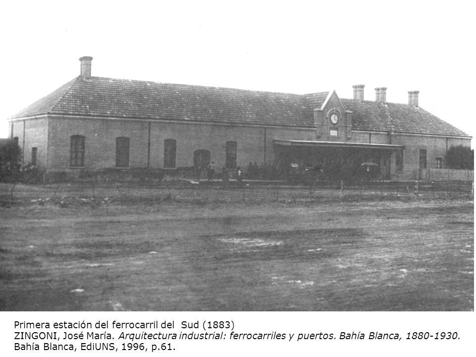 Primera estación del ferrocarril del Sud (1883)