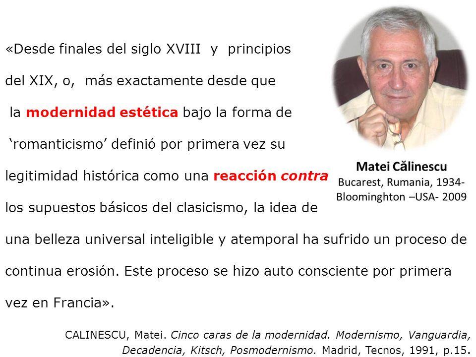 «Desde finales del siglo XVIII y principios
