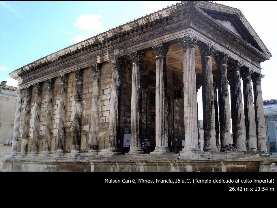 Maison Carré, Nîmes, Francia,16 a. C