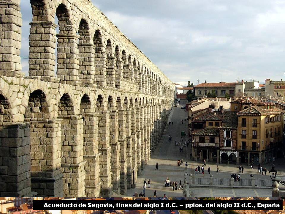 Acueducto de Segovia, fines del siglo I d. C. – ppios. del siglo II d