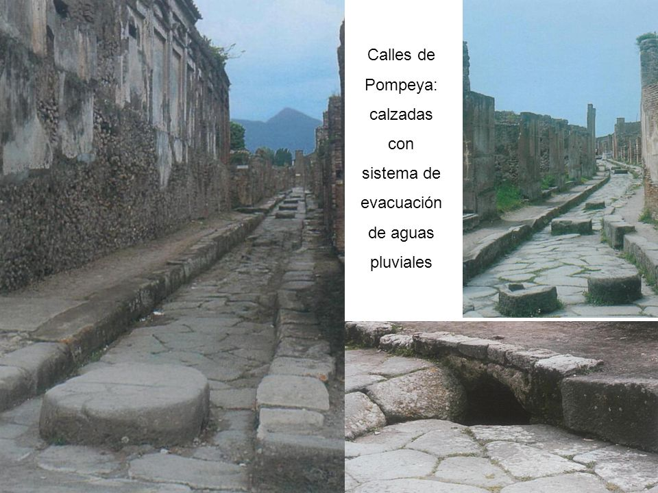 Calles de Pompeya: calzadas