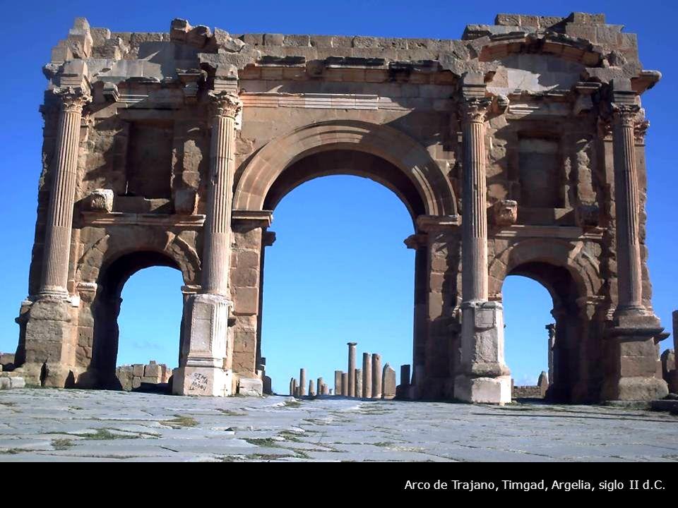 Arco de Trajano, Timgad, Argelia, siglo II d.C.