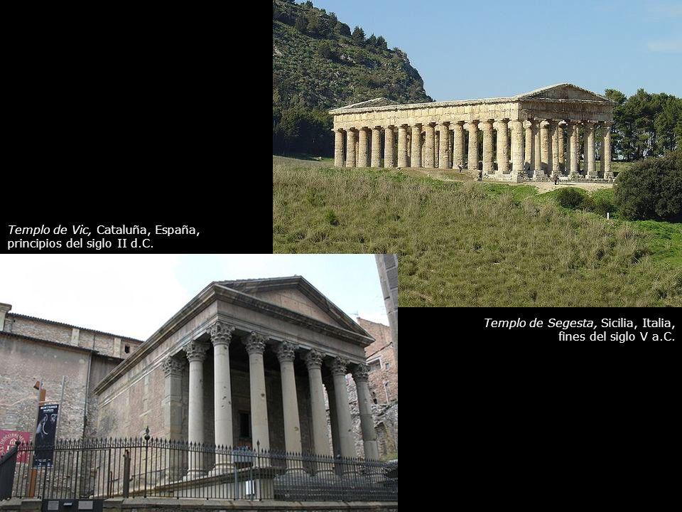 Templo de Vic, Cataluña, España, principios del siglo II d.C.