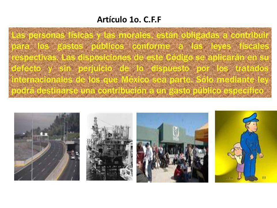 Artículo 1o. C.F.F