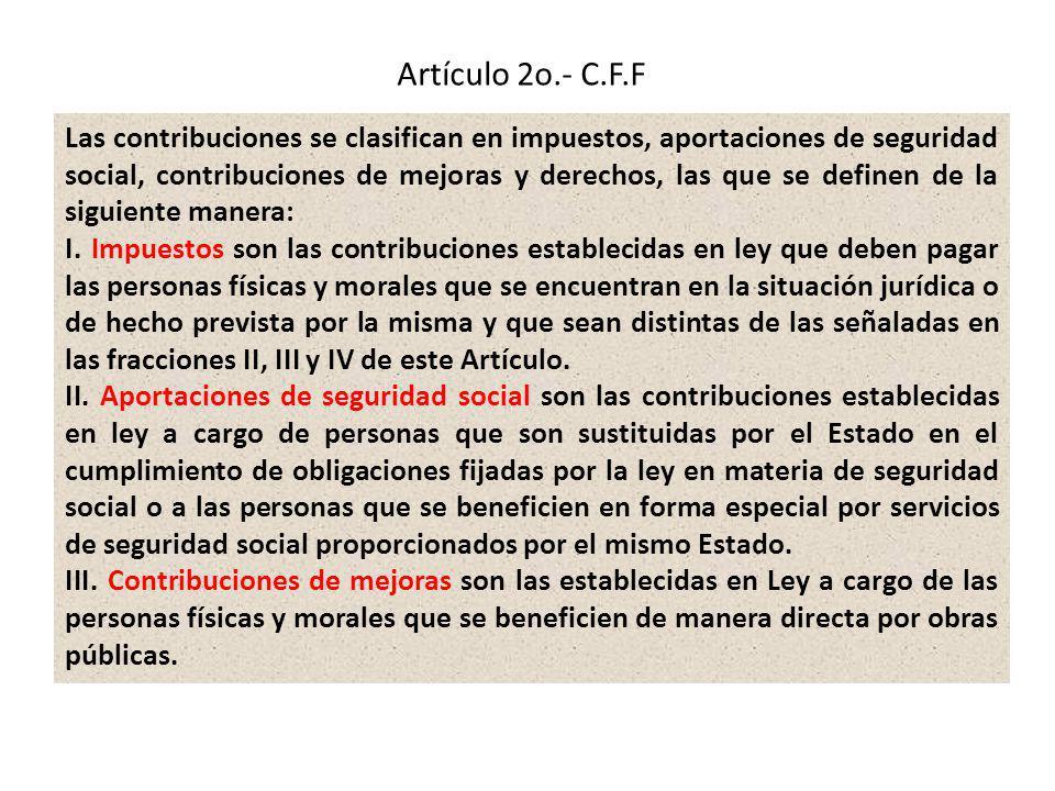 Artículo 2o.- C.F.F