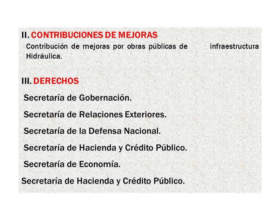 II. CONTRIBUCIONES DE MEJORAS