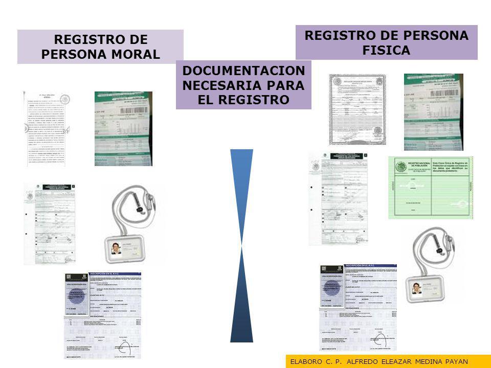 REGISTRO DE PERSONA FISICA REGISTRO DE PERSONA MORAL