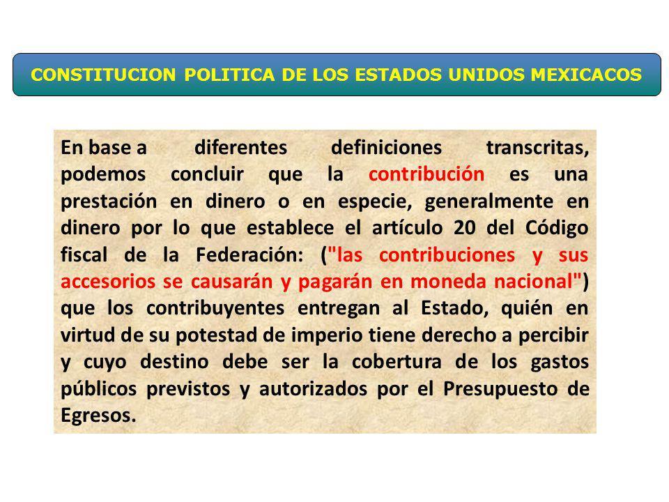 CONSTITUCION POLITICA DE LOS ESTADOS UNIDOS MEXICACOS