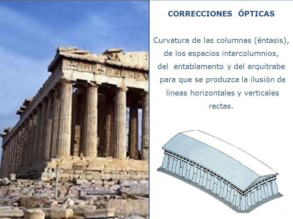 Curvatura de las columnas (éntasis), de los espacios intercolumnios,
