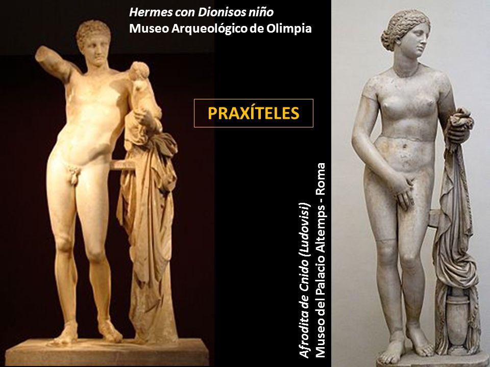 PRAXÍTELES Hermes con Dionisos niño Museo Arqueológico de Olimpia