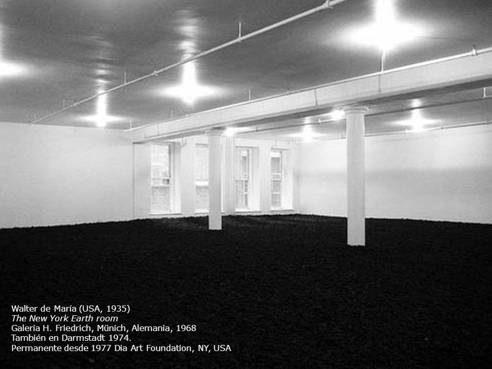 Walter de María (USA, 1935)The New York Earth room. Galería H. Friedrich, Münich, Alemania, 1968. También en Darmstadt 1974.