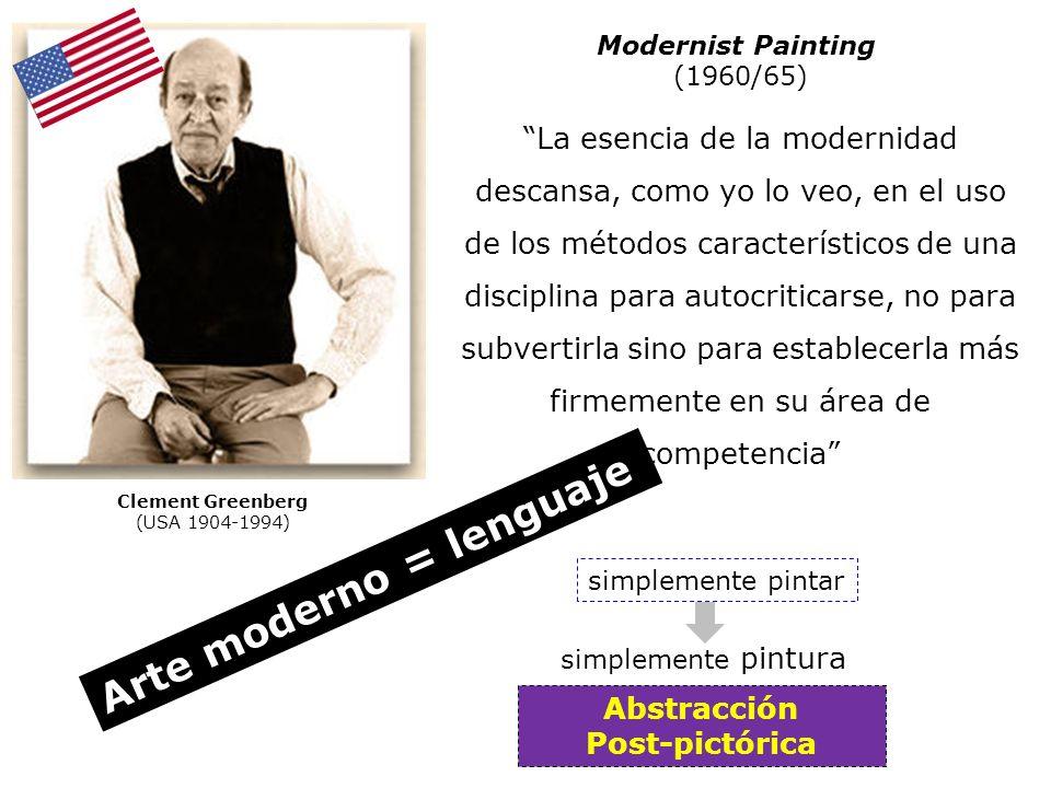Arte moderno = lenguaje