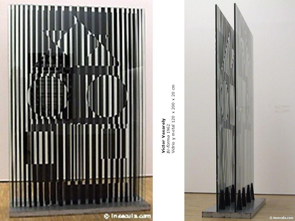 Vidrio y metal 120 x 200 x 20 cm Víctor Vasarely Bi-forma 1962