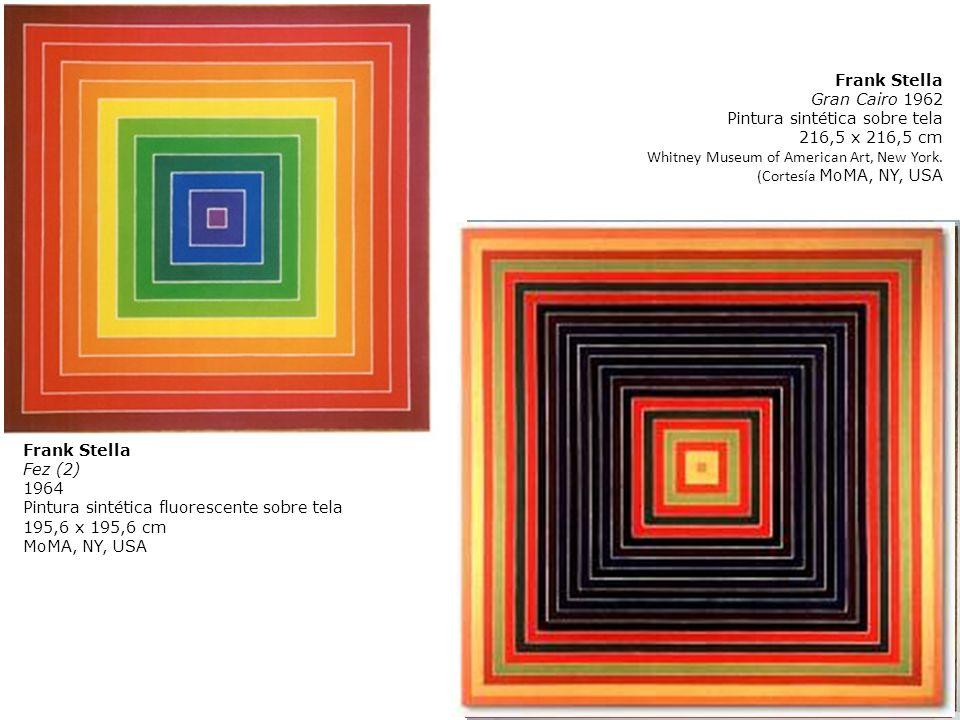 Frank StellaGran Cairo 1962. Pintura sintética sobre tela. 216,5 x 216,5 cm. Whitney Museum of American Art, New York.
