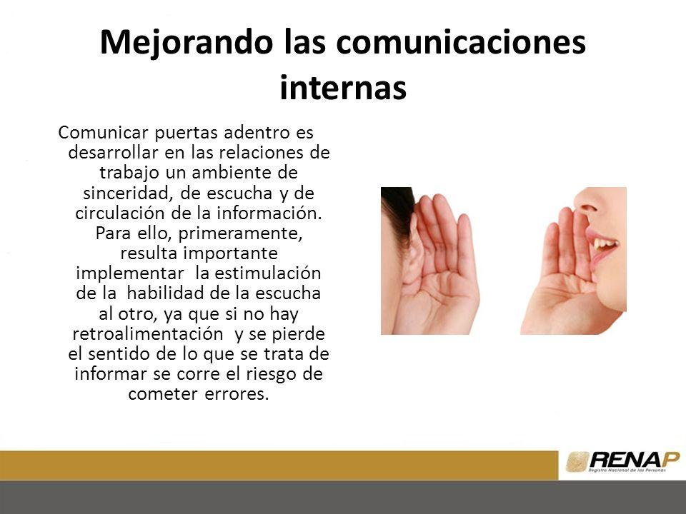 Mejorando las comunicaciones internas