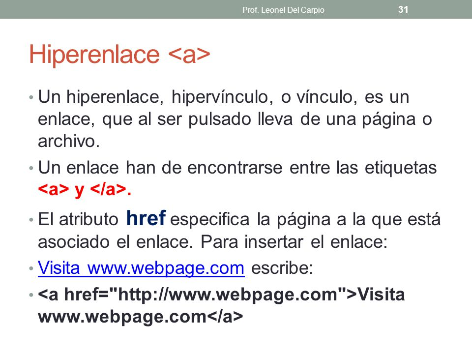 Hiperenlace <a>