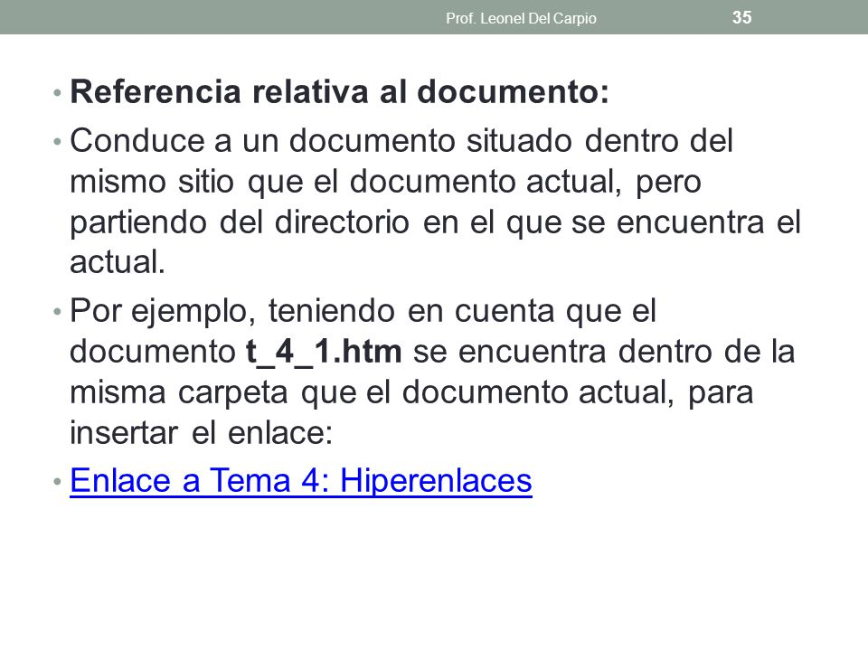 Referencia relativa al documento: