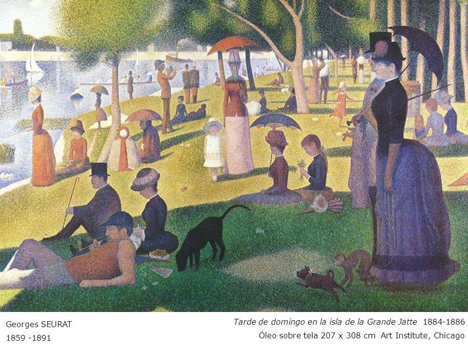 Georges SEURAT 1859 -1891. Tarde de domingo en la isla de la Grande Jatte 1884-1886.