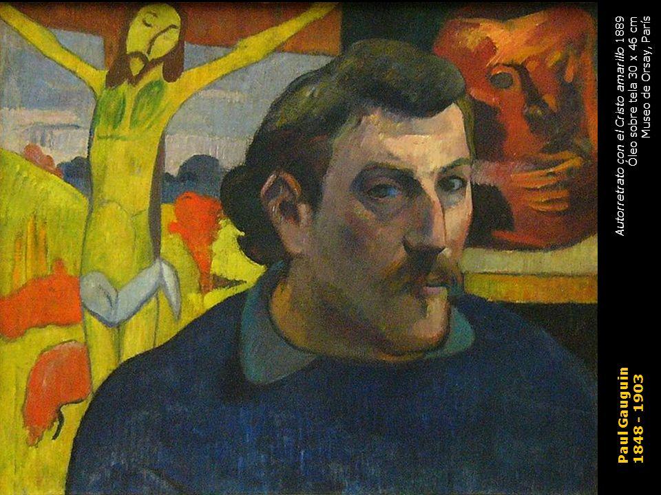 Paul Gauguin 1848 - 1903 Autorretrato con el Cristo amarillo 1889
