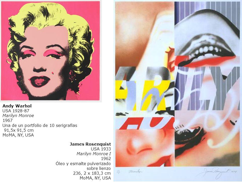 Andy WarholUSA 1928-87. Marilyn Monroe. 1967. Una de un portfolio de 10 serigrafías. 91,5x 91,5 cm.