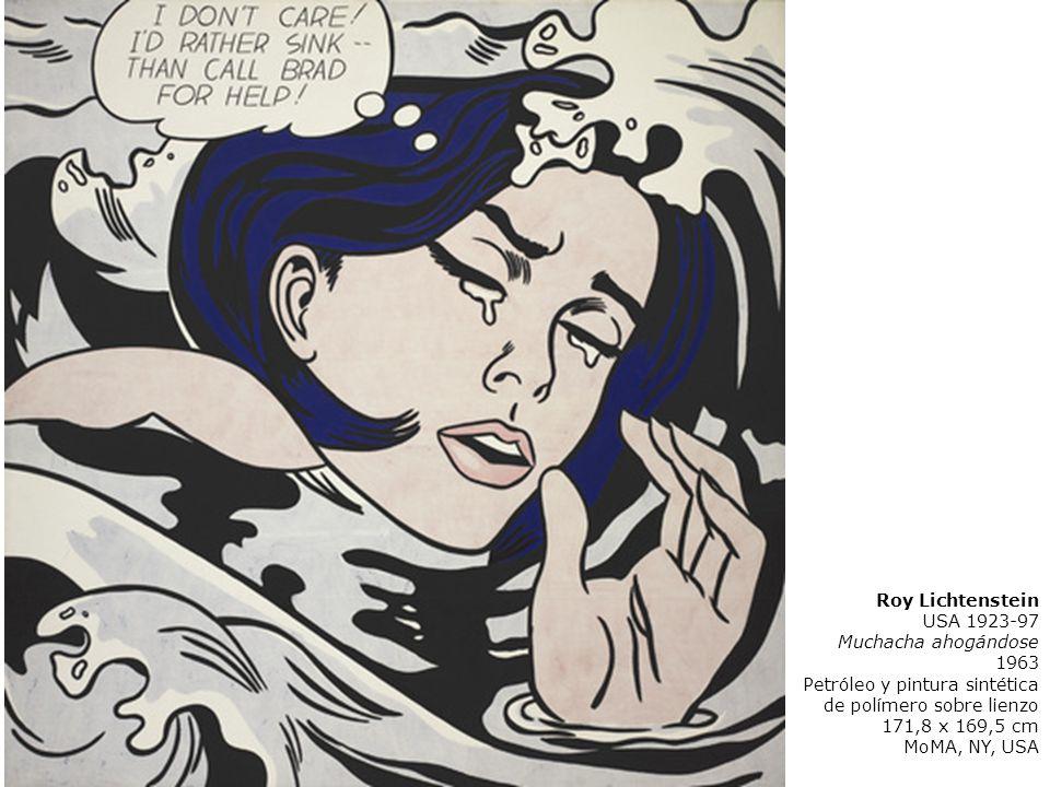 Roy LichtensteinUSA 1923-97. Muchacha ahogándose. 1963. Petróleo y pintura sintética de polímero sobre lienzo.