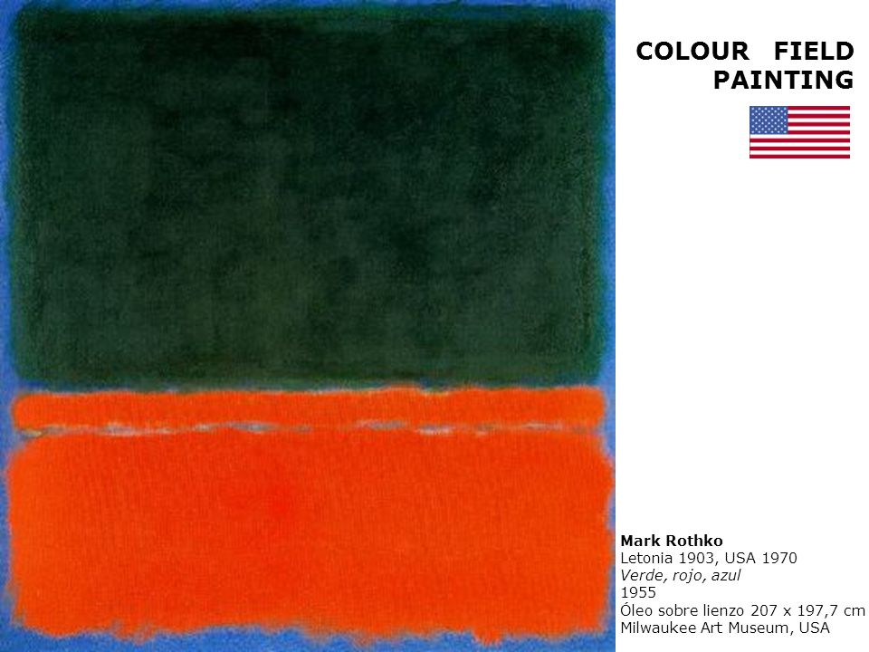 COLOUR FIELD PAINTING Mark Rothko Letonia 1903, USA 1970 N° 3 1949