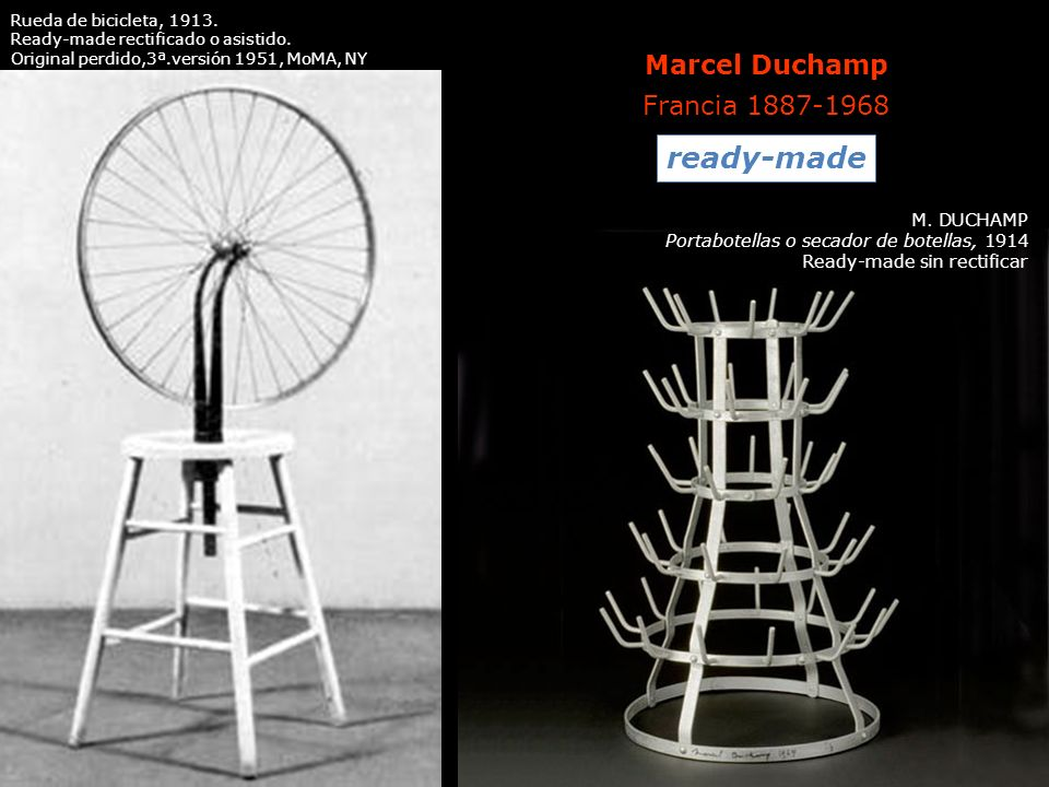 ready-made Marcel Duchamp Francia 1887-1968 M. DUCHAMP