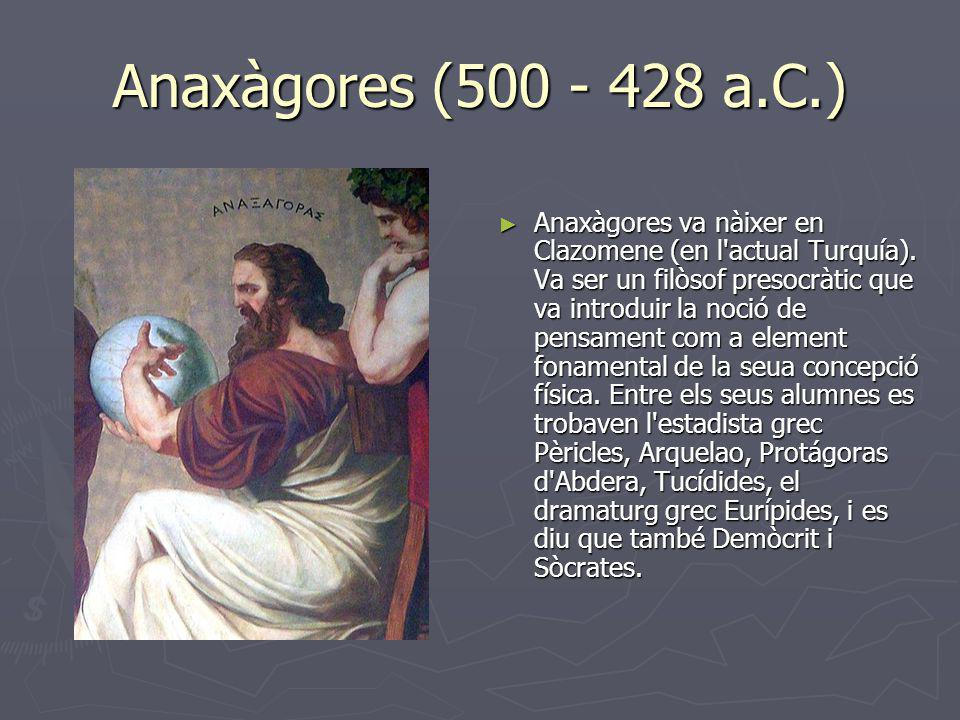 Anaxàgores (500 - 428 a.C.)
