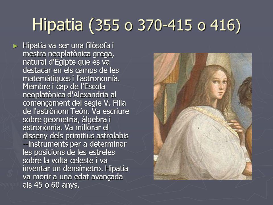 Hipatia (355 o 370-415 o 416)