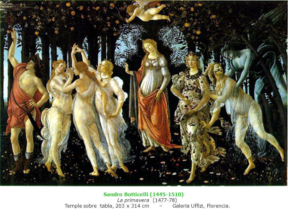 Temple sobre tabla, 203 x 314 cm – Galería Uffizi, Florencia.